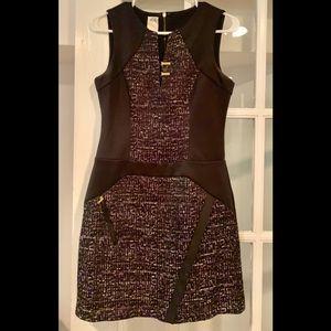 Ali Ro black and purple tweed dress